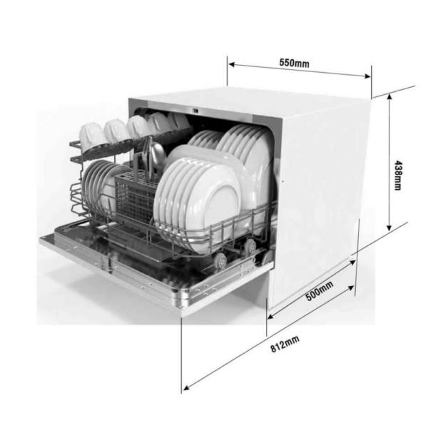 Посудомоечная машина EXITEQ EXDW-T502 - Размер