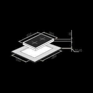 Комбинированная варочная панель (электрическая+газовая)  MAUNFELD EEHS.32.3ES.KG