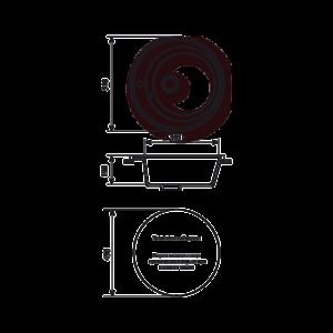 Мойка кухонная GS 05 328 бежевая - Схема установки