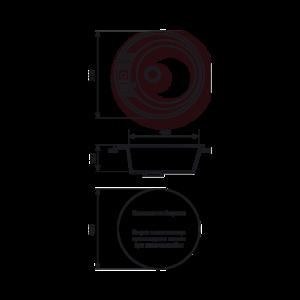 Мойка кухонная GS 05 S 308 черная - Схема установки