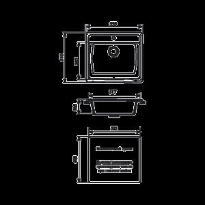 Мойка кухонная GS 06 302 песочная - Схема установки
