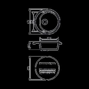 Мойка кухонная GS 08 307 терракот - Схема установки