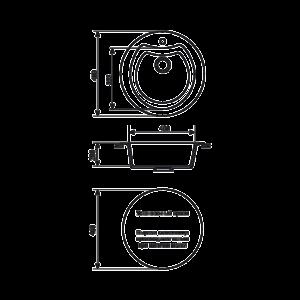 Мойка кухонная GS 08 S 328 бежевая - Схема установки