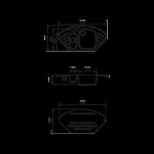 Мойка кухонная GS 14 302 песочная - Схема установки