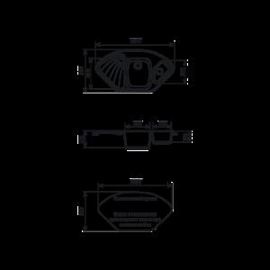 Мойка кухонная GS 14 К 310 серая - Схема установки