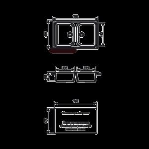 Мойка кухонная GS 15 302 песочная - Схема установки