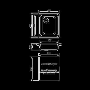 Мойка кухонная GS 17 310 серая - Схема установки