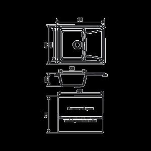 Мойка кухонная GS 17 К 310 серая - Схема установки