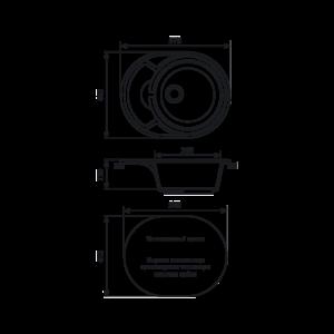 Мойка кухонная GS 18 K 310 серая - Схема установки