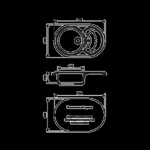 Мойка кухонная GS 18 S 307 терракот - Схема установки
