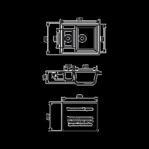 Мойка кухонная GS 21 328 бежевая - Схема установки