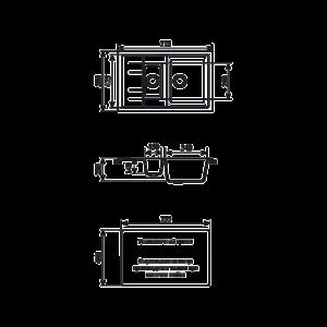 Мойка кухонная GS 21 K 328 бежевая - Схема установки