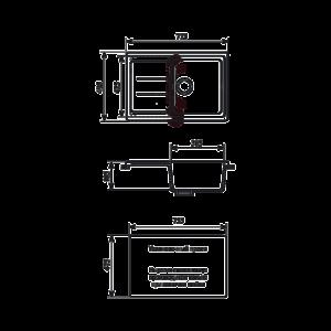Мойка кухонная GS 25 307 терракот - Схема установки